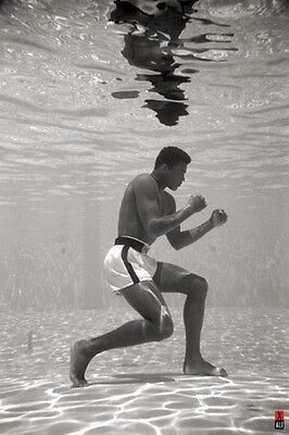 Muhammad Ali Poster SWIMMING POOL Brand New LARGE SIZE 61 cm X 91.5 cm
