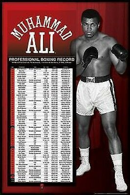 Muhammad Ali Poster CAREER RECORD Brand New  LARGE SIZE 61 cm X 91.5 cm