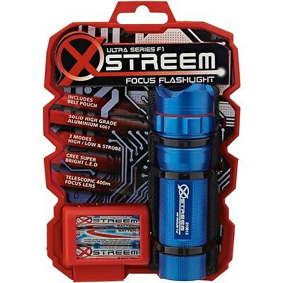 Xstreem F1 Focus Cree LED Flash Light Torch with Pouch  - 4 Colours Available