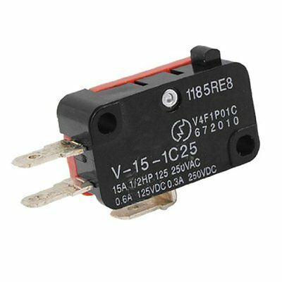 1 pcs V-15-1C25 15A Micro Limit Switch Button SPDT Momentary Snap Action new