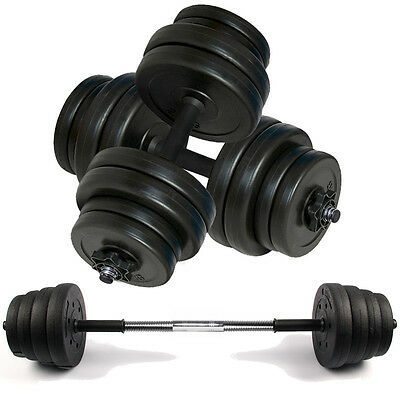 30kg Dumbbell Set Bar Dumbbells Home Gym Fitness Free Weights Barbell Bar