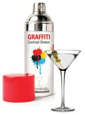 Graffiti Cocktail Shaker Mixer Spray Can by Kikkerland