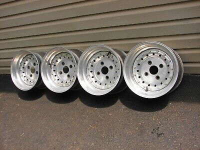 2- Nos Vintage Seiberling Super Wide Sports F70-15 Red /  White Line Tires