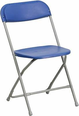 Lot Of 20 Hercules Series 440 Lb. Capacity Premium Blue Plastic Folding Chair