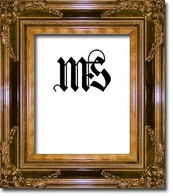 Mahogany & Gold Solid Wood Frame for Picture/Photo/Poster/Diploma, #633