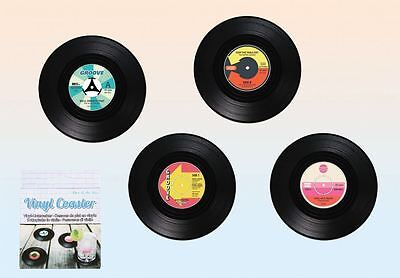 Vinyl Record Coasters Set Pack of 4 Music Coffee Drink Cup Gift Barware