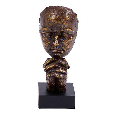 Ardent Plea 6-Inch Tabletop Sculpture Bust Decor