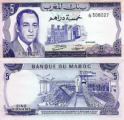 MOROCCO 5 Dirhams Banknote World Paper Money UNC Currency Note p56