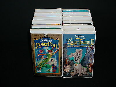 Lot of 12 Walt Disney Childrens Animated Video Tape VHS Movies Videos
