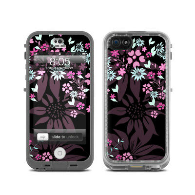 Skin for LifeProof Nuud iPhone 5 - Dark Flowers by Kate Knight - Sticker Decal