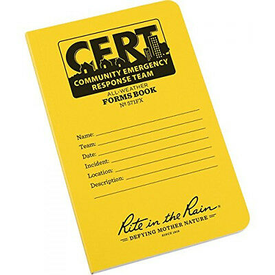 Rite in the Rain All-Weather CERT Forms Book