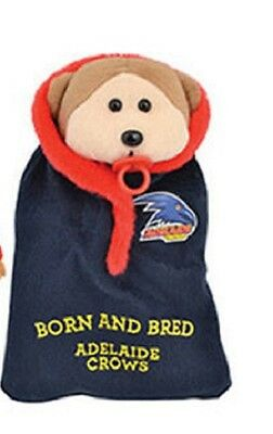 Official AFL Beanie Kid - Adam The Adelaide Crows Bear 2015 with Onesie - BNWT