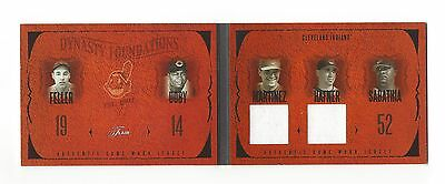 2005 FLAIR DYNASTY FOUNDATIONS VICTOR MARTINEZ TRAVIS HAFNER JERSEYS #d 088/150