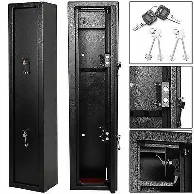 Large 3 Scoped Gun Cabinet Rifle Shortgun Safe Police Approved W/2 7-Level Key