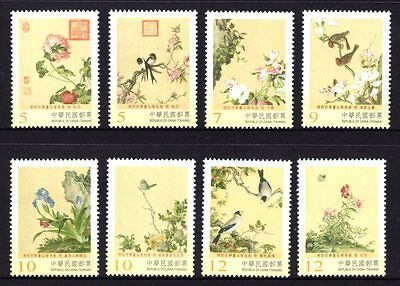 Taiwan 2016 Ancient Chinese Paintings Set 8 MNH