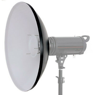 Universal Beauty Dish Beautydish 56 cm weiss ohne Adapter mit Diffusor