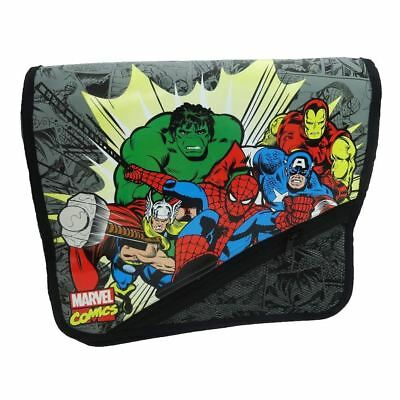 Official Marvel Fumetti Character Borsa Tracolla - A - Hulk, Thor, Spidey