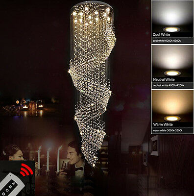 Modern Chandelier LED Crystal Light Ceiling Villa Stairs Lighting Fixtures #6655