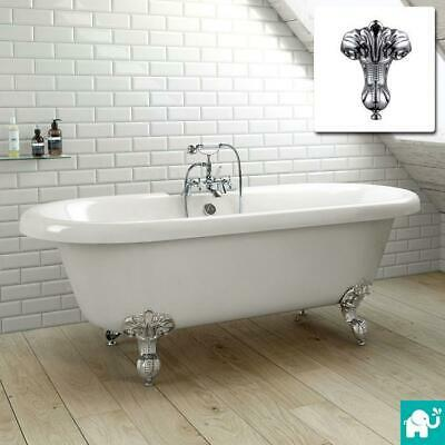 Traditional Freestanding Bath Victorian Bathroom Roll Top Double Ended 1700mm
