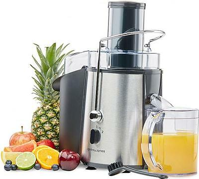Andrew James Power Juicer In Chrome, 850 Watts