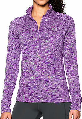 Under Armour Tech Twist Half Zip Ladies Running Top - Purple
