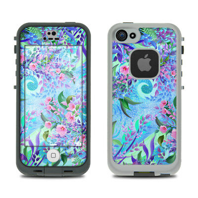 Skin Kit for LifeProof FRE iPhone 5S - Lavender Flowers - Sticker Decal