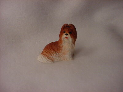 SHIH TZU tan brown puppy TiNY DOG Resin Figurine HAND PAINTED MINIATURE Mini SM