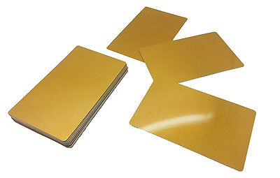 100 Sublimation Gold Business Card