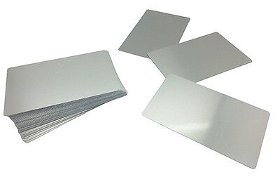 100 Sublimation Silver Business Card