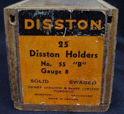 Wood Box Advertising Henry Disston Holders No55 Hand Saw Carpenters Tool