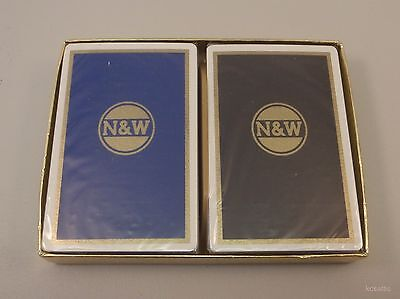 Vintage Norfolk and Western Double Deck Redislip Playing Cards SEALED Original