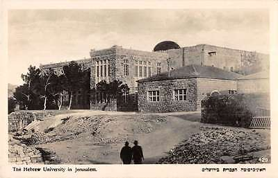 Jerusalem Israel birds eye view Hebrew University real photo pc Y15105