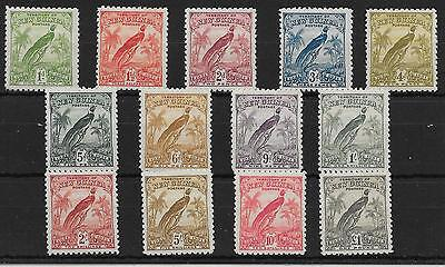New Guinea Sg150/62 1931 Anniversary Set With Dates Mtd Mint