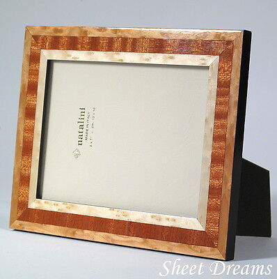 Natalini Riva Maples Brown Hand Made Italy Marquetry Photo Picture Frame 5x7 New