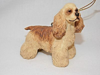 Tan Cocker Spaniel Dog Resin Material Christmas Tree Ornament 3 x 2 3/4 In