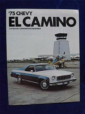 1975 Chevy El Camino Sales Brochure General Motors Canada