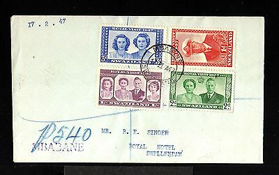 10607-SWAZILAND-OLD COVER MBABANE to SWELLENDAM.1947.WWII.British.Suazilandia.