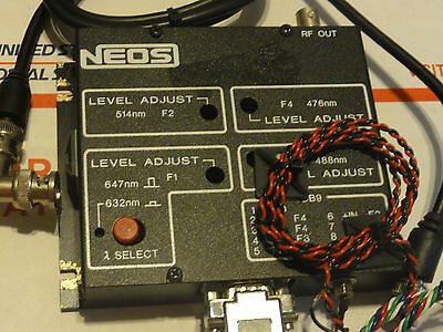NEOS PCAOM 4ch DRIVER FOR LASER LIGHT SHOW USE WITH MANUALS!