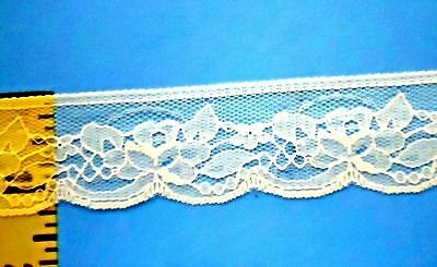 """Scalloped Lace Trim Edging Embroidered Eyelet Lace Trim 1-1//2/"""" White 5 yds #W167"""