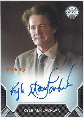 "2015 AGENT OF SHIELD AUTO: KYLE MacLACHLAN - AUTOGRAPH GOLDEN GLOBE ""TWIN PEAKS"""