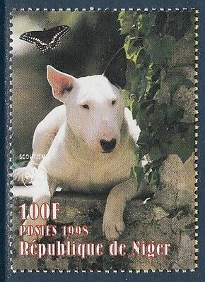 Bull Terrier Dogs Niger MNH stamp 1998