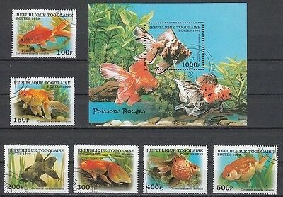 Goldfish Fish Togo S/S+6 stamps 1999