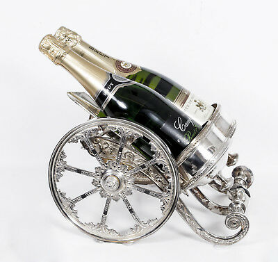 English Silver Plate Cannon Wine Champagne Holder