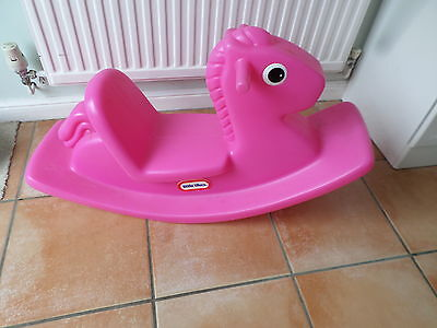 Little Tikes Rocking Horse  Pink Good Condition