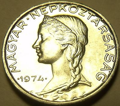 Gem Unc Hungary 1974 5 Filler~Only 60,000 Minted~Free Shipping