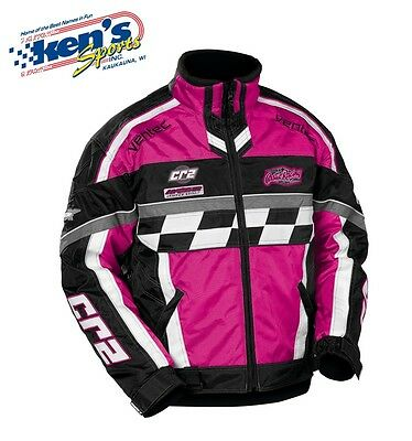 CASTLE X Youth Pink Girls CR2-12 Winter Snowmobile Jacket 72-908_