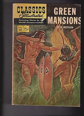 Classics Illustrated Comic Book #90 Green Mansions HRN #167