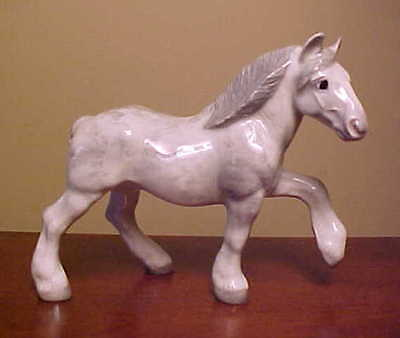 RETIRED Hagen-Renaker Specialty #3340 DRAFT HORSE Ceramic Figurine BASE REMOVED