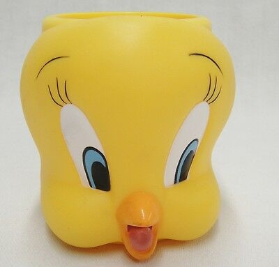 Looney Tunes Tweety Bird Figural Plastic Mug Childs Cup Yellow