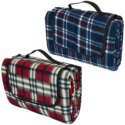 Tartan Picnic Blanket Waterproof Backing Large Folding Camping Mat Travel Rug